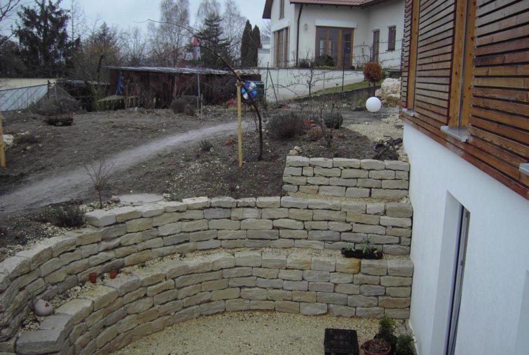 Trockenmauer Gartenbau Schmaußer GbR